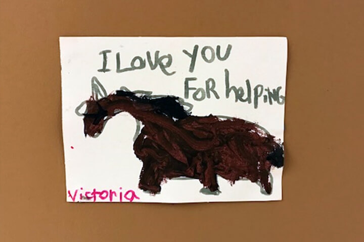 hand painted art sent to Victoria General Hospital