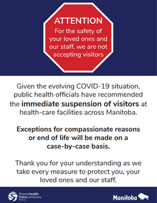 Click to for VGH's COVID-19 Visitor Restrictions